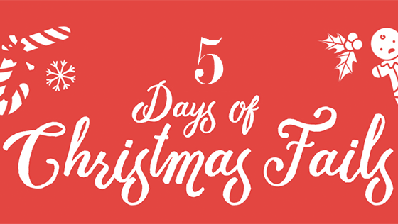 Get into the Christmas spirit with our top 5 festive fails